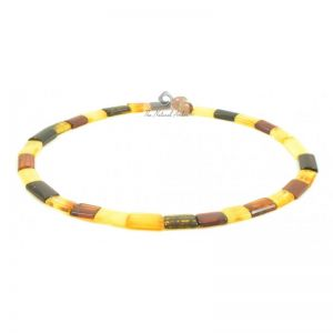 Adult Necklace With Multicolor Amber Plates